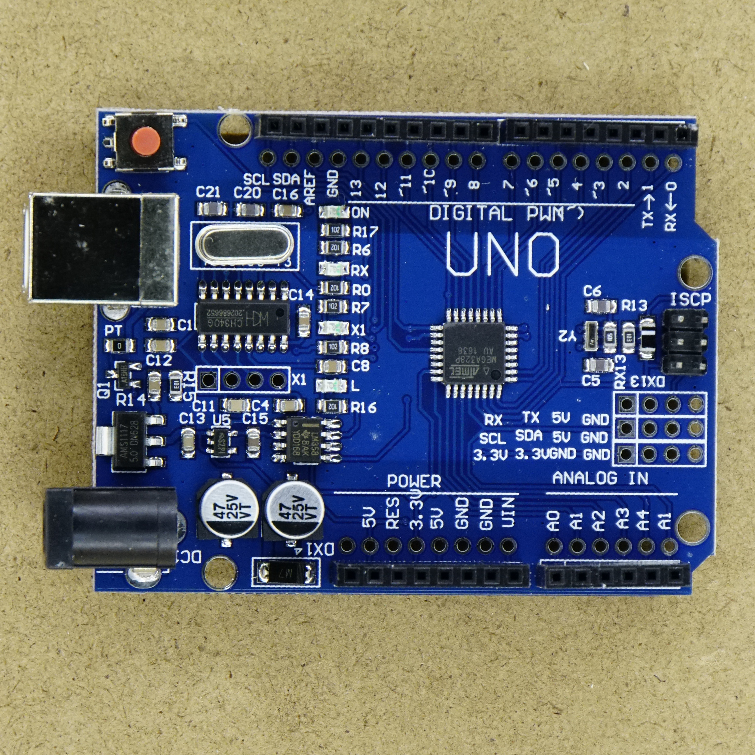 Arduino uno clone with usb type b connector a d electronics