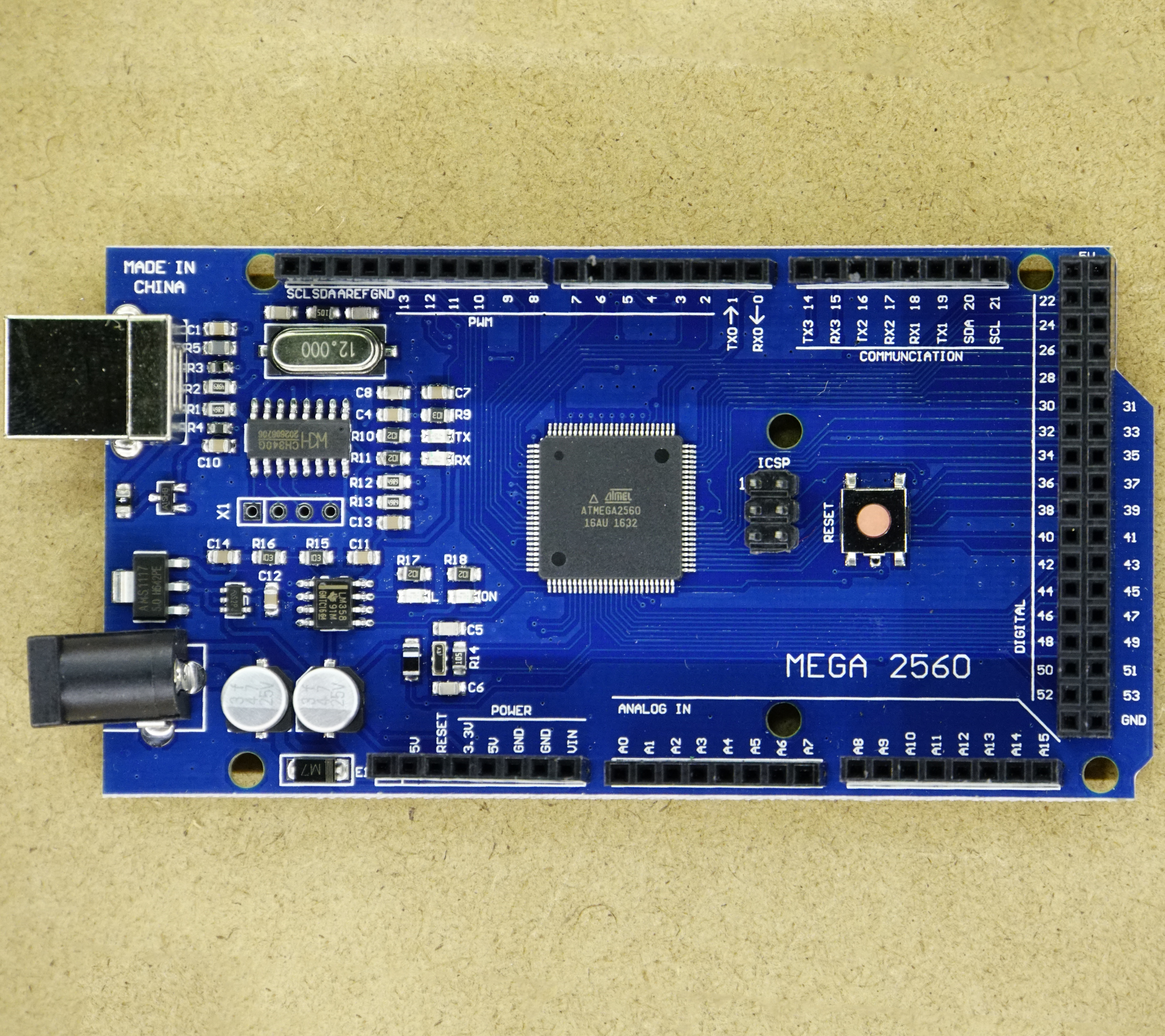 Arduino Mega 2560 with USB type B connector